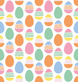 istock Happy Easter eggs seamless pattern 1138636781