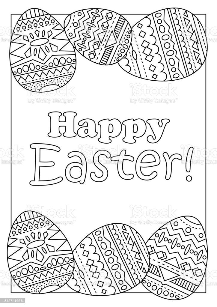 Ilustración De Huevos De Pascua Felizes Con Vector Ornamento