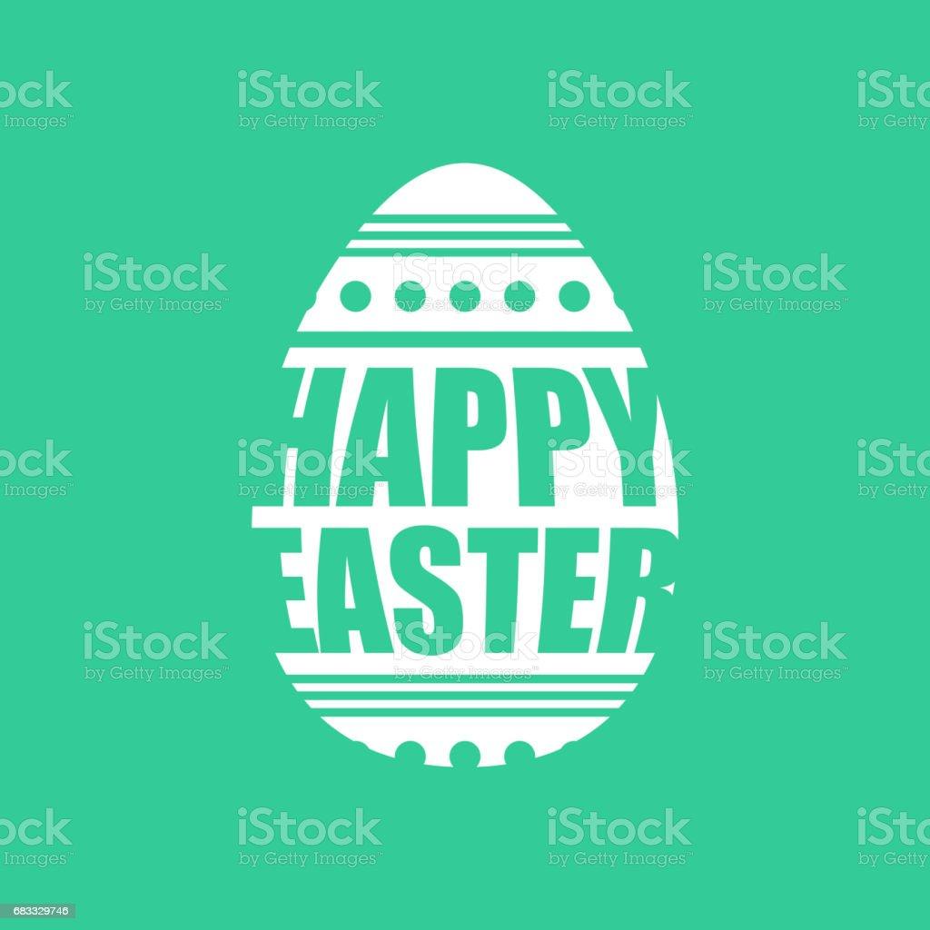 Happy easter emblem. Egg symbol Religion holiday. happy easter emblem egg symbol religion holiday - stockowe grafiki wektorowe i więcej obrazów atrament royalty-free