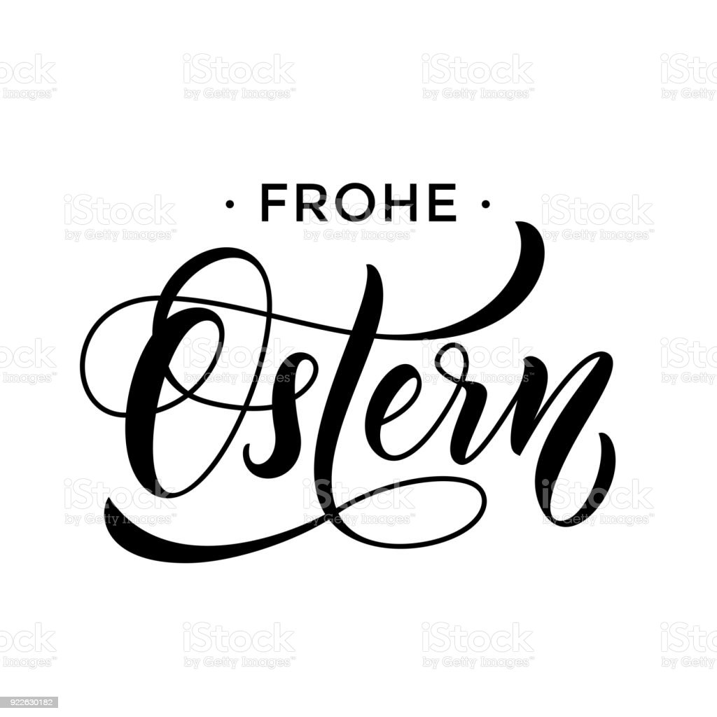 Happy easter german text lettering for paschal greeting card vector happy easter german text lettering for paschal greeting card vector springtime holiday frohe ostern calligraphy m4hsunfo