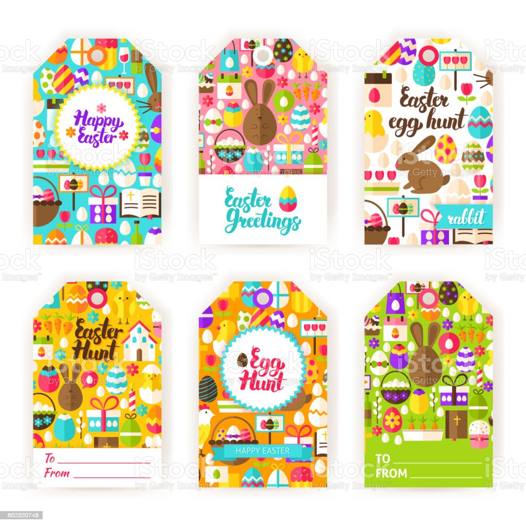 Happy easter gift tag labels stock vector art 652320748 istock happy easter gift tag labels royalty free stock vector art negle Image collections