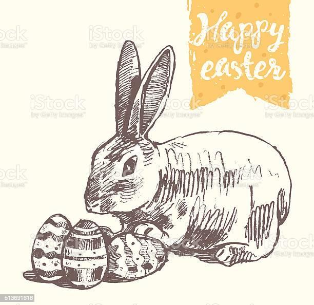 Happy easter greeting card cute bunny eggs vector id513691616?b=1&k=6&m=513691616&s=612x612&h=exd0ivrkmkvepnevdko26otjty4nph2 tuinpf gsa0=