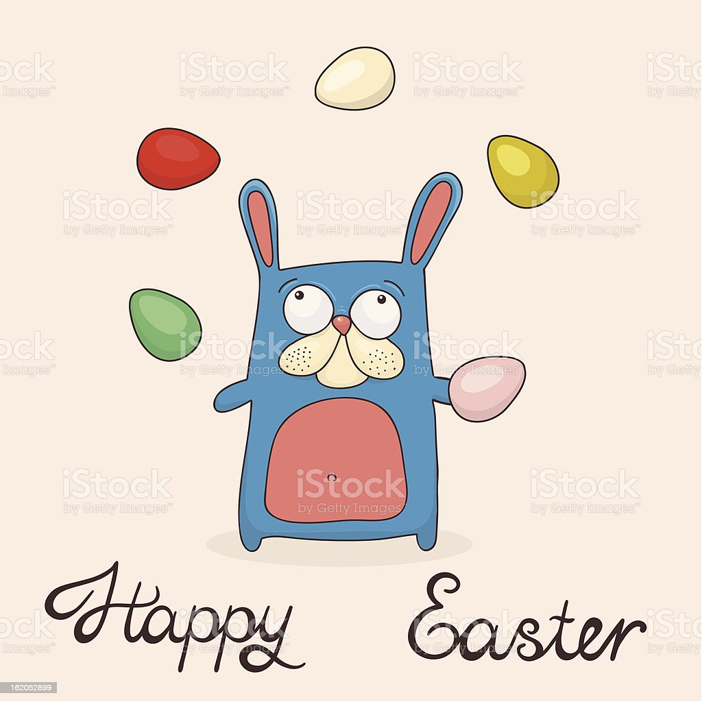 Happy Easter greeting card royalty-free stock vector art