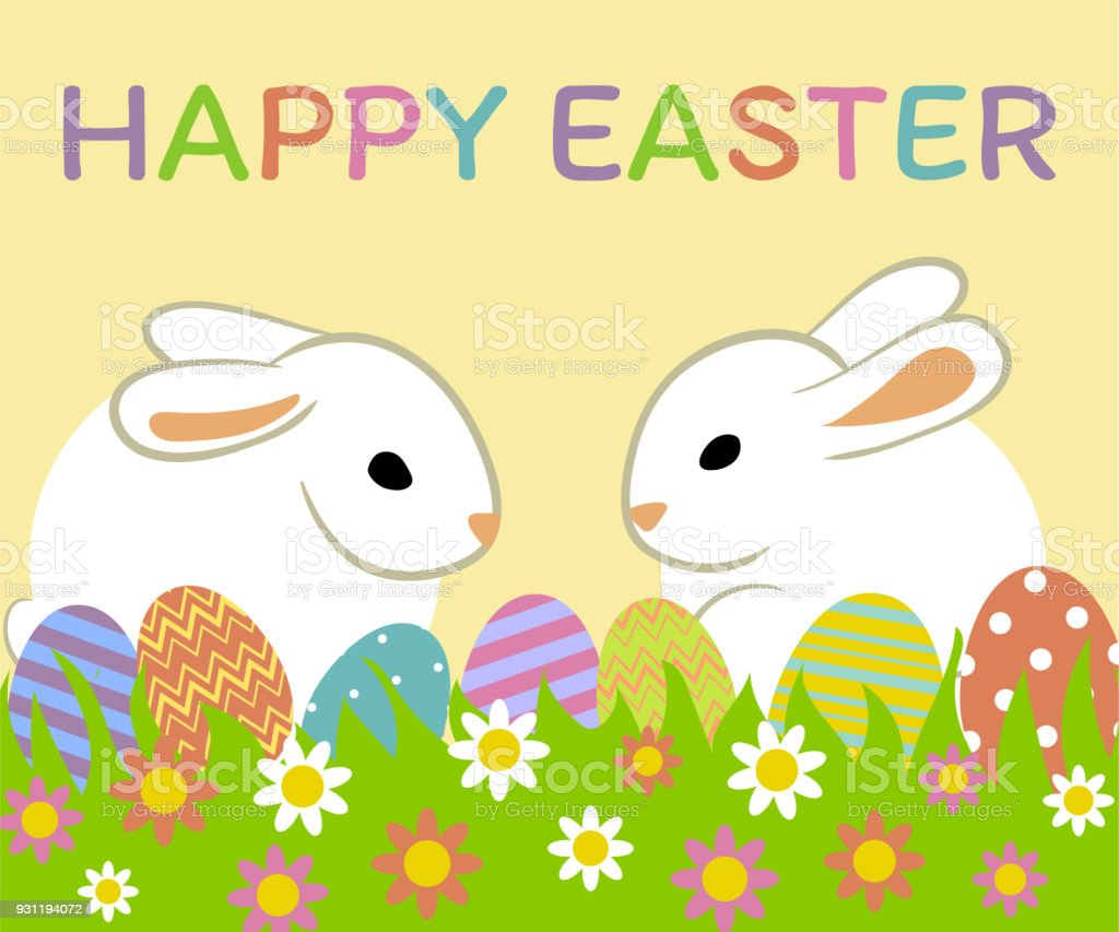 Happy Easter Greeting Card Stock Vector Art More Images Of
