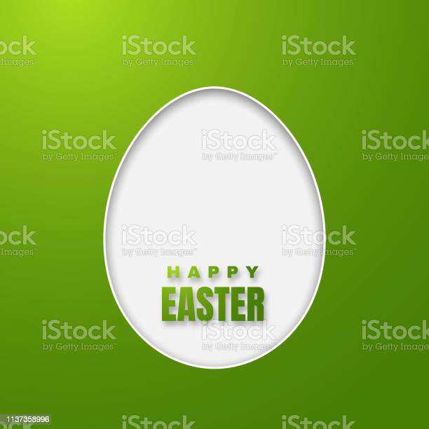 Happy easter greeting card with color paper easter egg on green vector id1137358996?b=1&k=6&m=1137358996&s=612x612&h=kpv5adktdj5nf4mq3nuxvkvymqlcwnajo9nacvrm 2a=