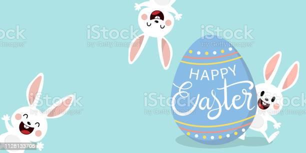 Happy easter greeting card with cute white bunny and eggs welcome vector id1128133705?b=1&k=6&m=1128133705&s=612x612&h=p1sm01gbm413qecuea9ksh4w2w1jrxu5c0q7l0th22y=