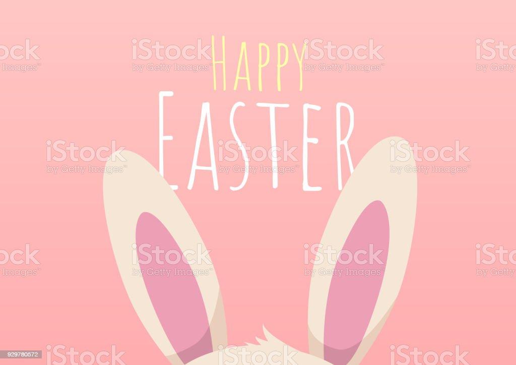 carte de voeux joyeux Pâques avec le lapin de Pâques - Illustration vectorielle