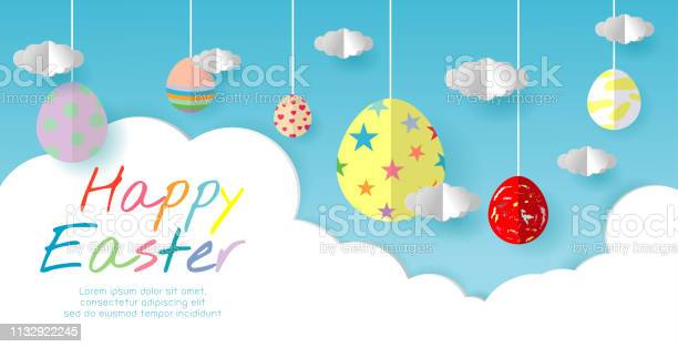 Happy easter greeting card with egg on blue sky background easter vector id1132922245?b=1&k=6&m=1132922245&s=612x612&h=m5k5n1pwo5hhejsluxpnbnzwdizsnx0hxxyro582ygo=