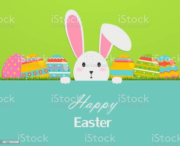 Happy easter greeting card with eggs grass and rabbit vector id657768398?b=1&k=6&m=657768398&s=612x612&h=7log2gksmqqsdduv3dcykv1936fk3mcs3 2342cykmm=