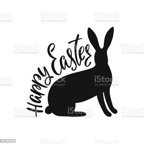 Happy easter greeting card with silhouette of bunny handwritten vector id917846230?b=1&k=6&m=917846230&s=612x612&h=iqmfowgrvfxuo  6ctpx zg4ywyjtc iwiwi4ek9qia=