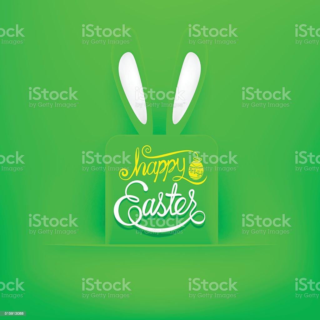 Glücklich Ostern Begrüßung Karte Hand Schriftzug Vektorillustration ...