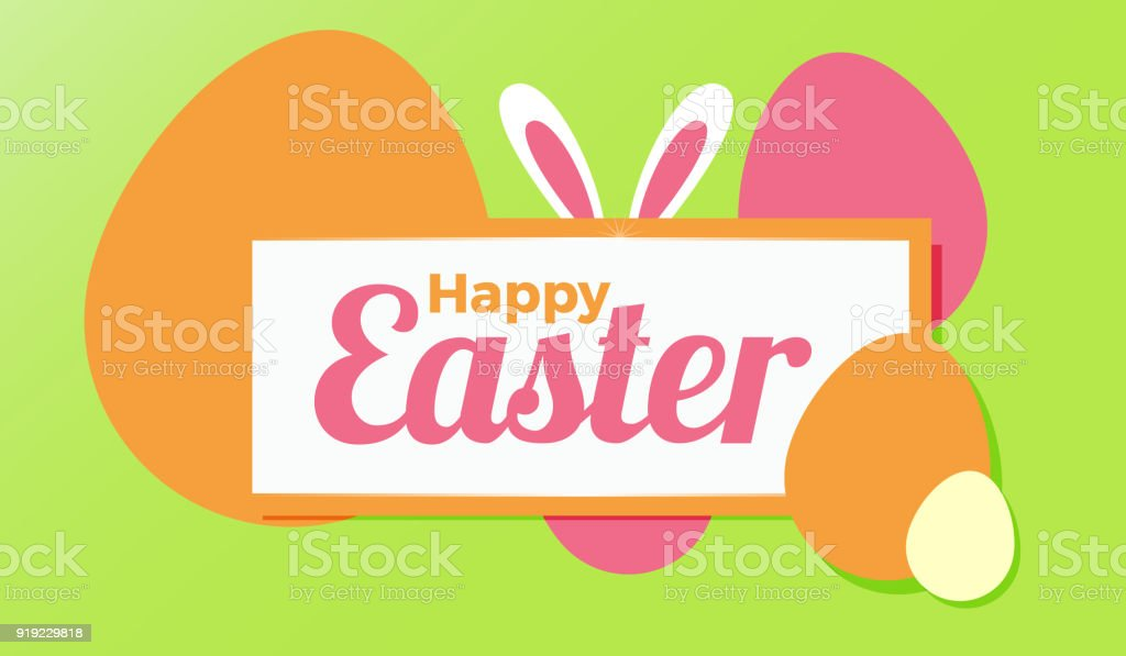 Happy easter greetings for web or greetings card vector editable happy easter greetings for web or greetings card vector editable design royalty free happy m4hsunfo