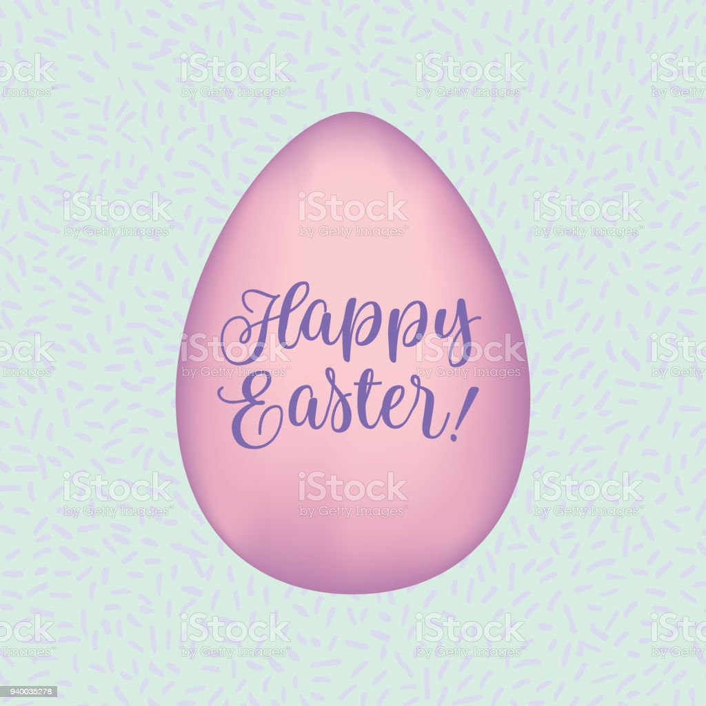 Happy Easter Greetings Vector Card Stock Vector Art More Images Of