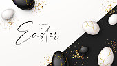 istock Happy Easter holiday banner 1303479381