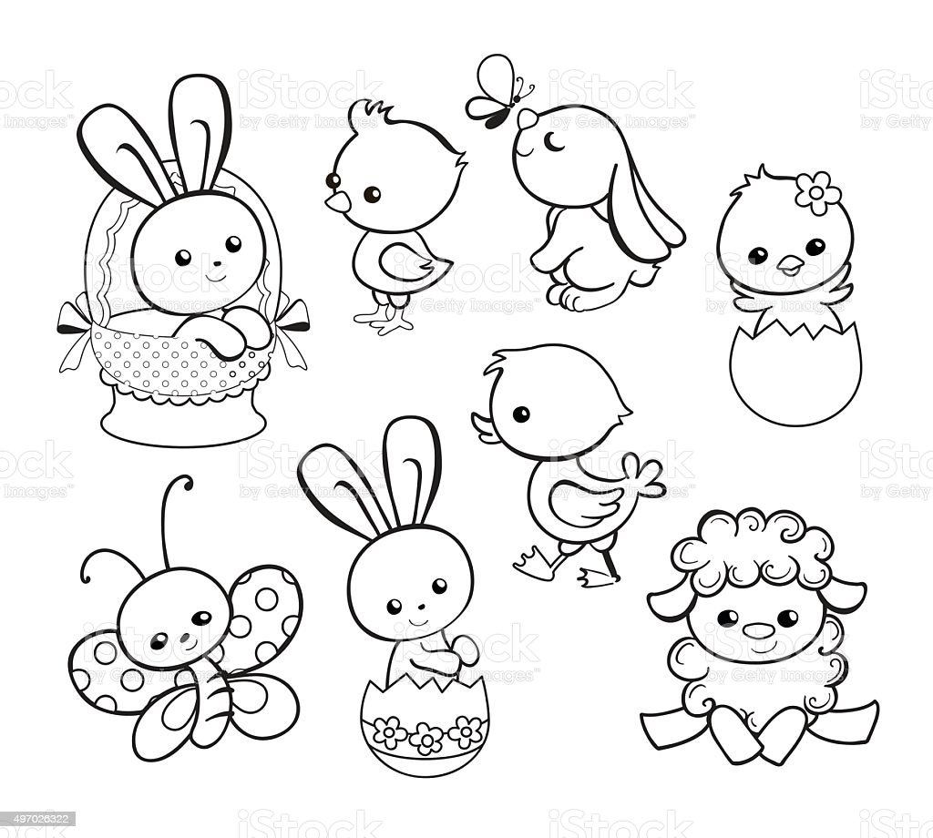 easter cartoon characters coloring pages