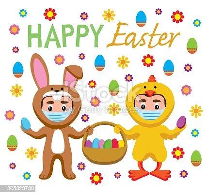 istock Happy Easter Illustration 1305323730