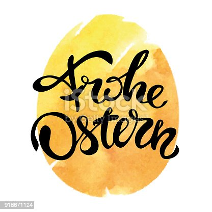 istock Frohe Ostern - Happy Easter in german language 918671124