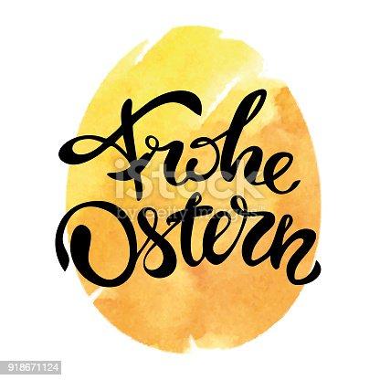 istock Happy Easter in german language 918671124