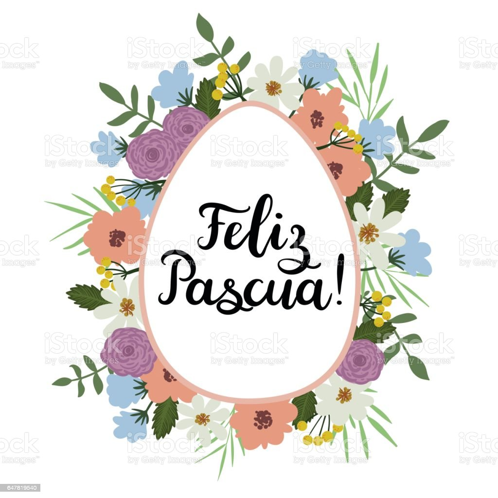 Happy easter in spanish modern calligraphy greeting card brush happy easter in spanish modern calligraphy greeting card brush lettering royalty free m4hsunfo