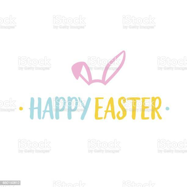 Happy easter lettering and rabbit ears vector id650150812?b=1&k=6&m=650150812&s=612x612&h=zlc5t1llfiay jsqcasexkrvej5syyougpbwas4ogfa=