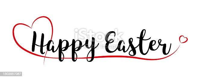 istock Happy Easter lettering 1303857087