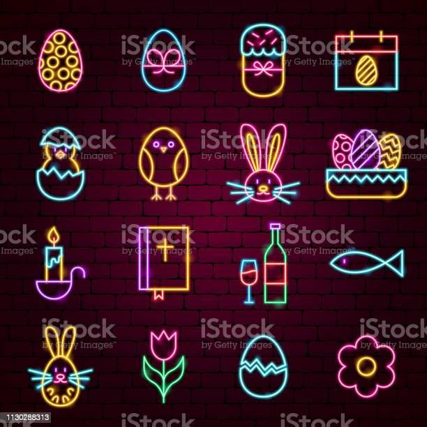 Happy easter neon icons vector id1130288313?b=1&k=6&m=1130288313&s=612x612&h=s8pp0w fhrqrjyqazovqp4vvbmphyzaj7rhdtjqpgyc=