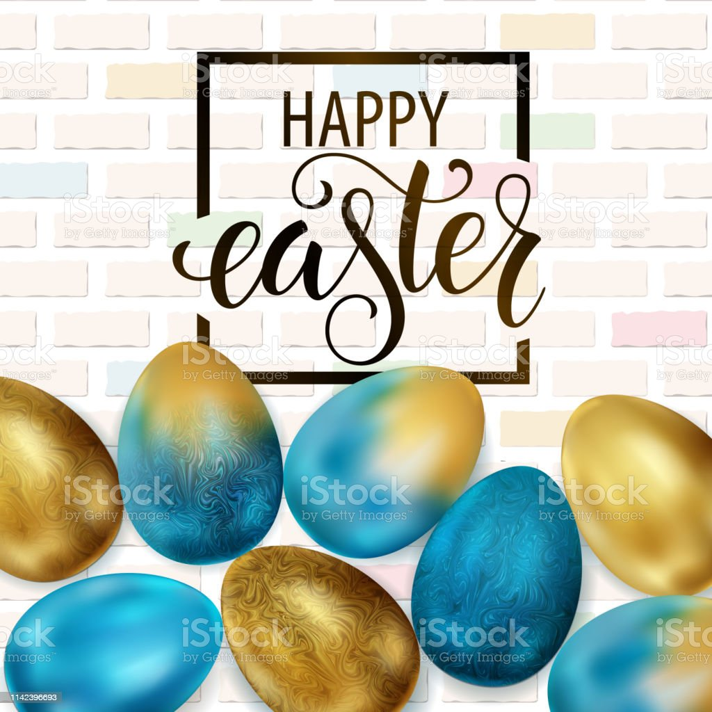 Happy Easter, painted eggs. Spring holidays, Easter background....