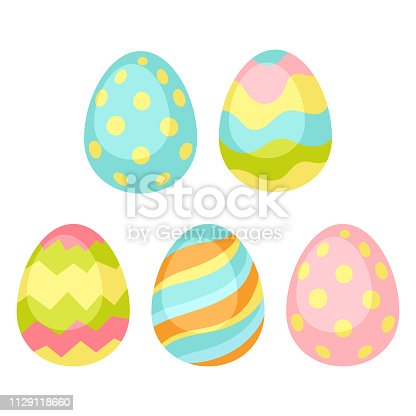 Happy Easter seamless pattern wiht eggs. Holiday decorative patternd items.