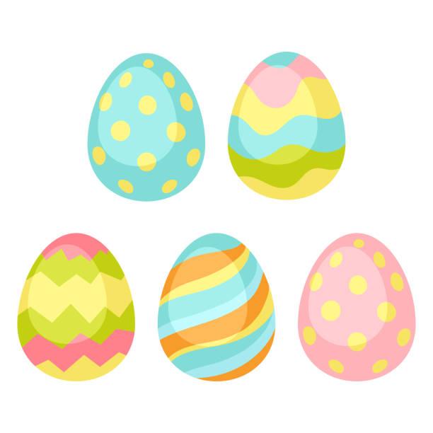 달걀으로 행복 한 부활절 완벽 한 패턴입니다. - 부활절 달걀 stock illustrations