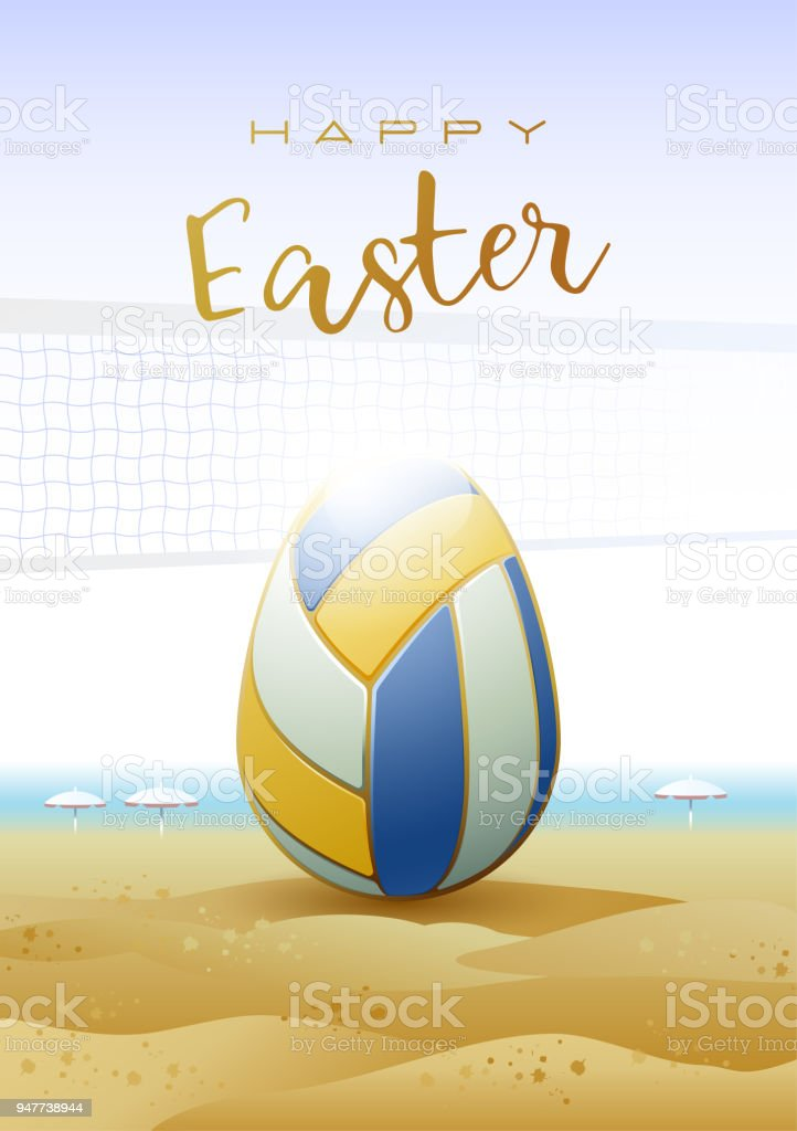 Sports greeting card beach volleyball royalty free happy easter sports greeting card beach volleyball royalty free happy easter sports m4hsunfo