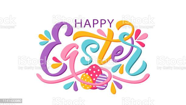 Happy easter text vector illustration isolated on white background vector id1141433980?b=1&k=6&m=1141433980&s=612x612&h=jenv wtbtpijhb7yqvpzbffjtch92omth9h nymolke=
