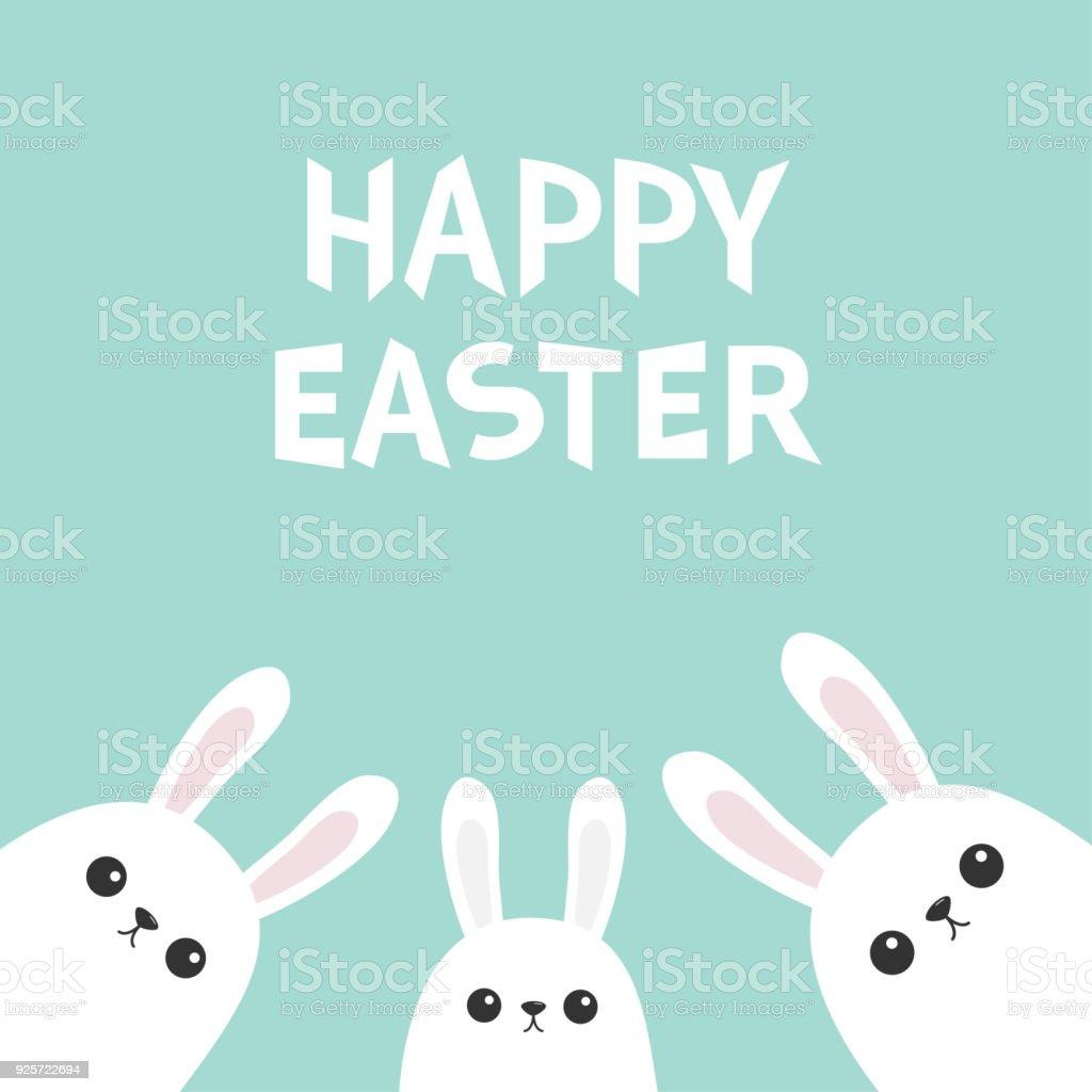 Ilustración de Feliz Pascua De Resurrección Conejo De Conejito ...