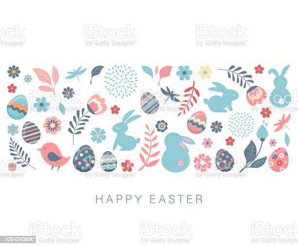 Happy easter vector banner with flowers eggs and bunnies vector id1094040690?b=1&k=6&m=1094040690&s=612x612&h=6ehol k9clek6obb7t9sbizs1yv6i3ebbchhqicwyly=