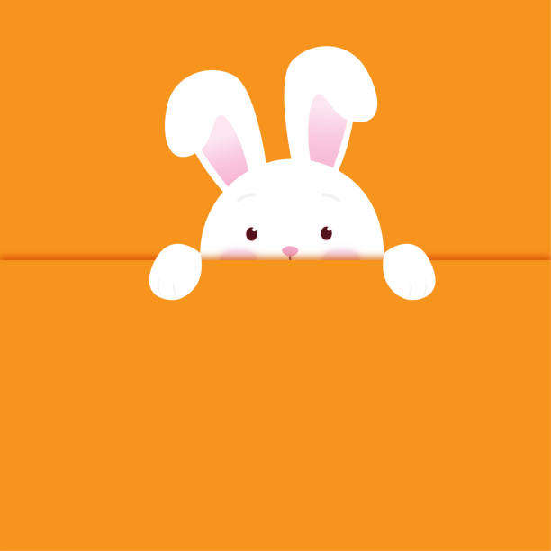 Happy Easter Happy Easter rabbit stock illustrations