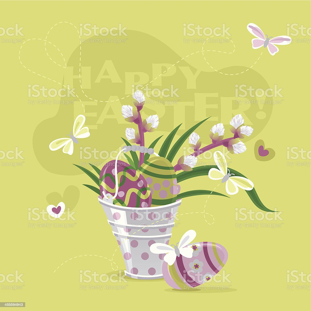 Happy Easter! (Greeting Card) royalty-free happy easter stock vector art & more images of backgrounds