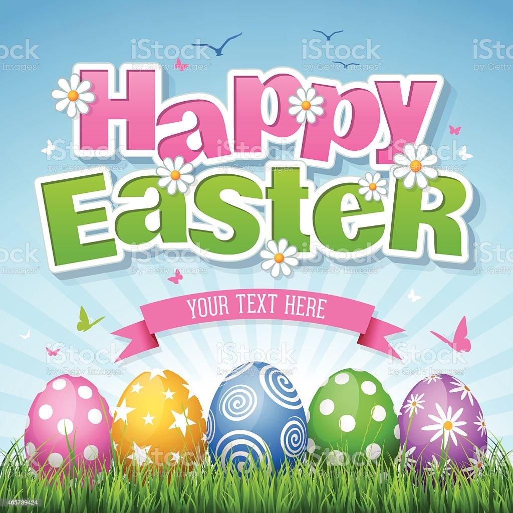 happy easter stock vector art 465739424 istock