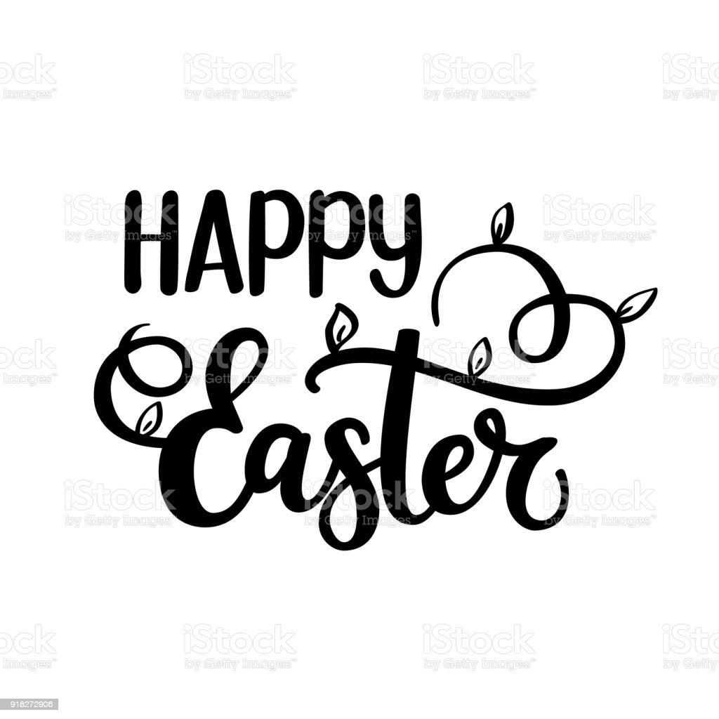 Happy easter vector religious christian spring world holiday design happy easter vector religious christian spring world holiday design greeting card text nice brush colors kristyandbryce Image collections