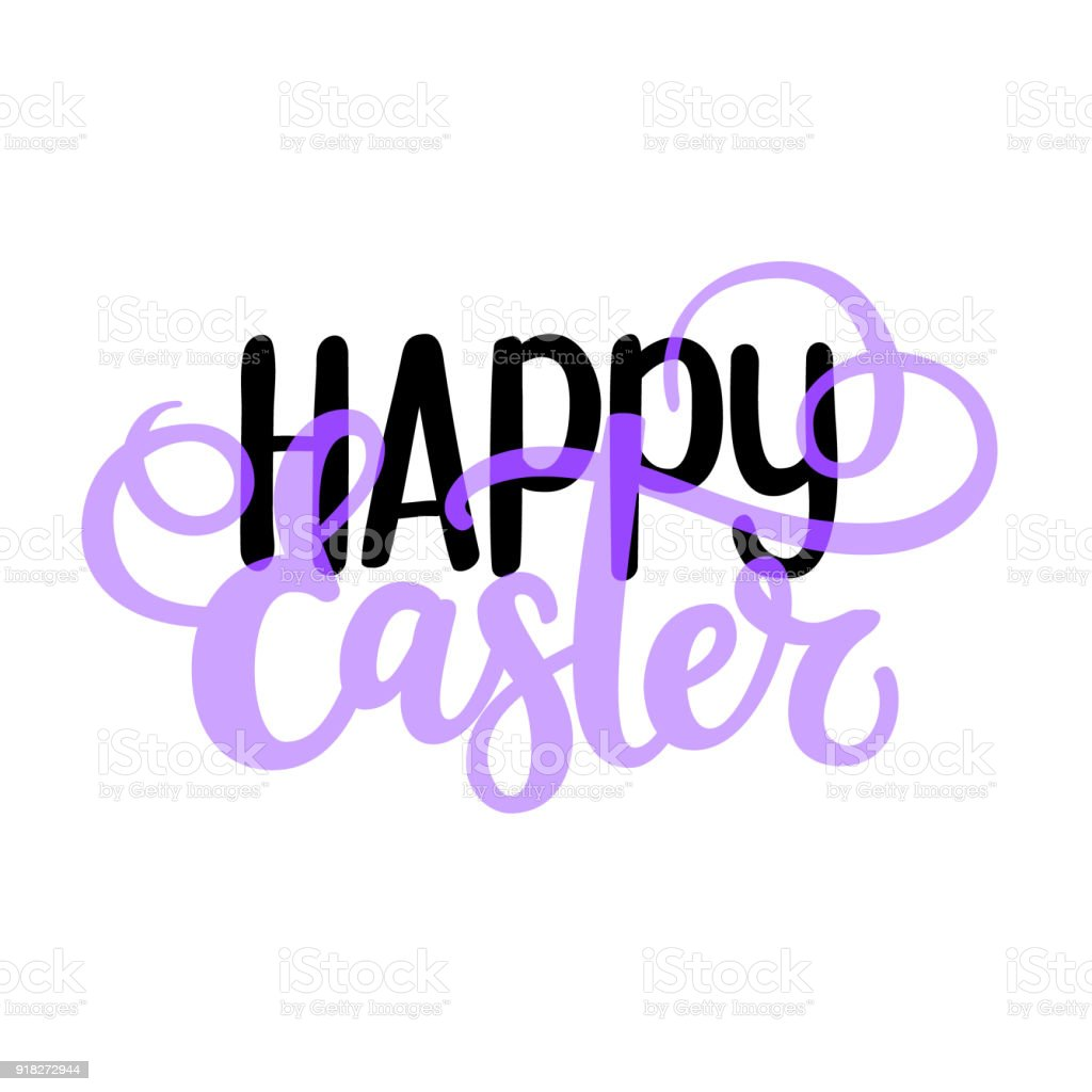 Happy easter vector religious christian spring world holiday happy easter vector religious christian spring world holiday design greeting card text nice brush colors kristyandbryce Gallery