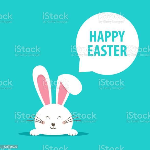 Happy Easterwebbanner Grußkarte Mit Kaninchen Hasenohren Vektorillustration Stock Vektor Art und mehr Bilder von Bildhintergrund
