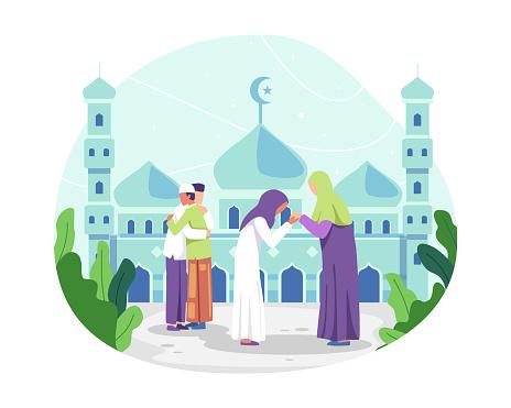 Happy Eid al-fitr illustration