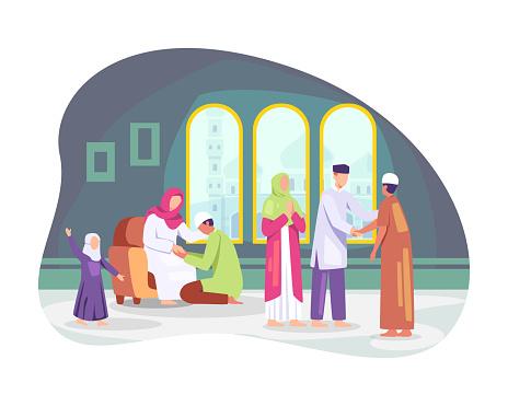 Happy Eid al-fitr vector illustration