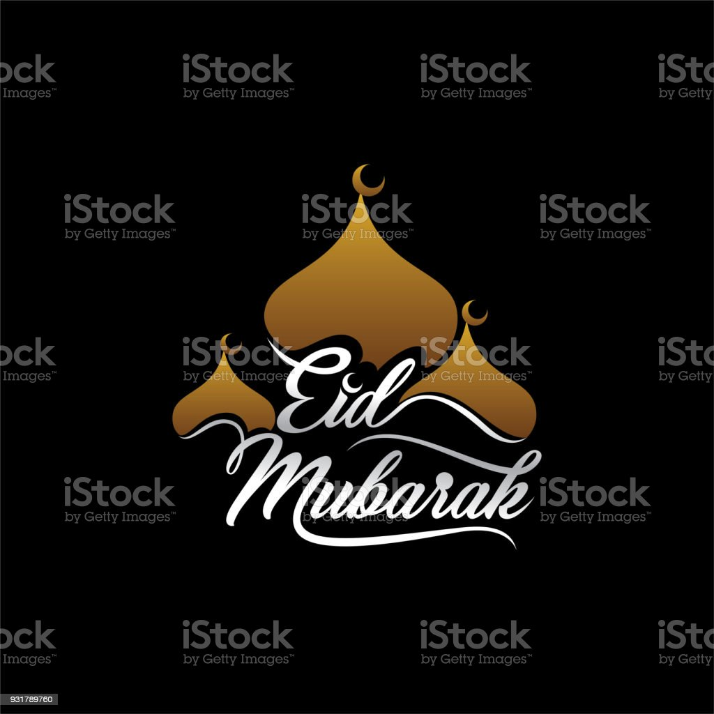 happy eid festival greeting design vector art illustration