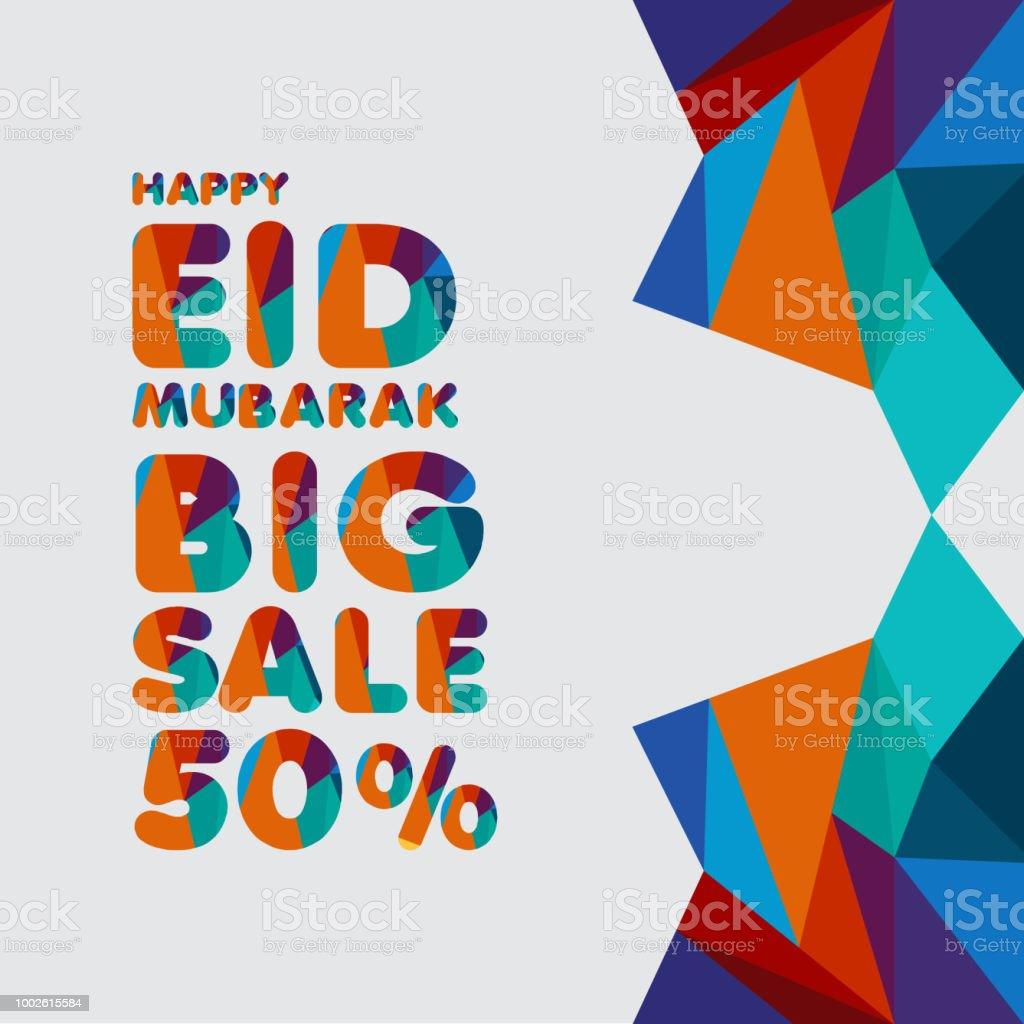Happy Eid Mubarak Big Sale 50 Template Design Vektorgrafik Stock ...