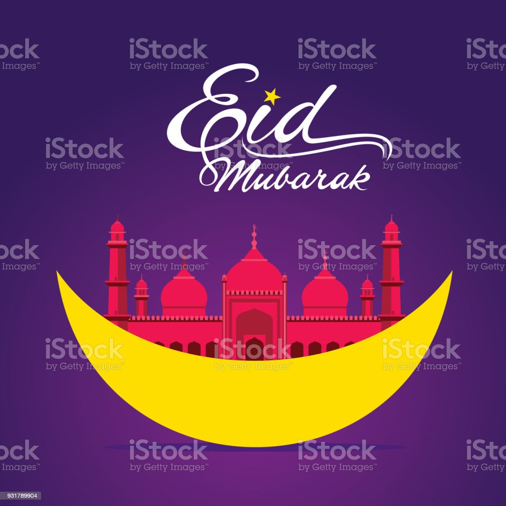 Happy eid mubarak greeting design stock vector art more images of happy eid mubarak greeting design royalty free happy eid mubarak greeting design stock vector art m4hsunfo