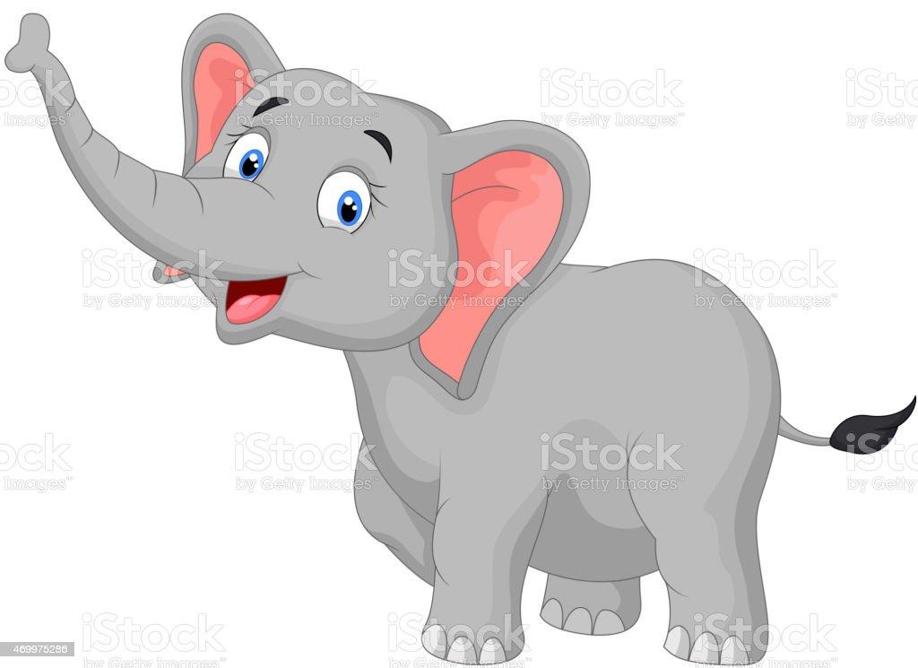Happy elephant cartoon stock vector art more images of - Fotos de elefantes bebes ...