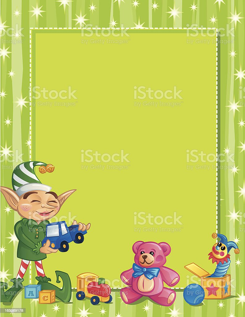 Happy Elf Frame 2 royalty-free stock vector art