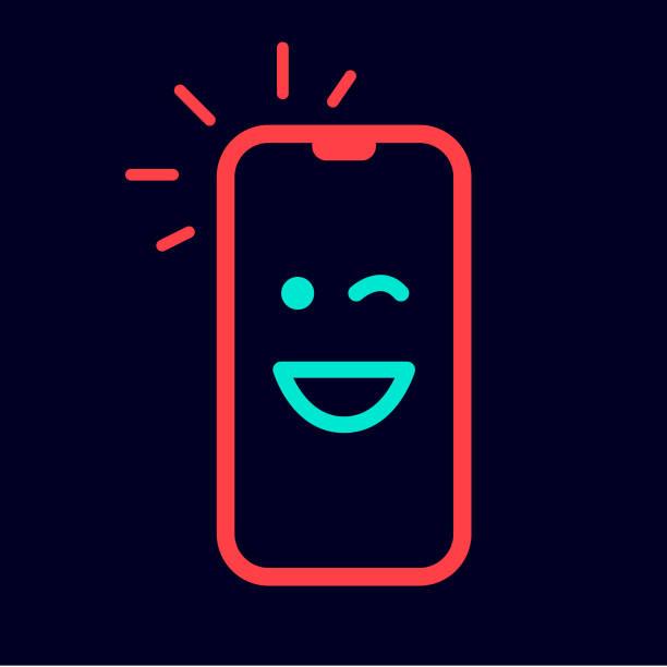 happy emoji mobile vector art illustration