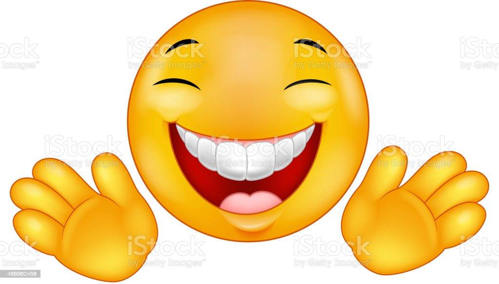 Populaire Dessin Animé Smiley Heureux Émoticon Stock Vecteur Libres de  ZI65