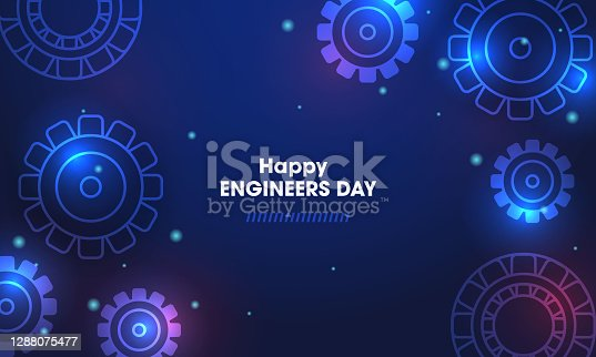 istock Happy engineers day with gear wheels 1288075477