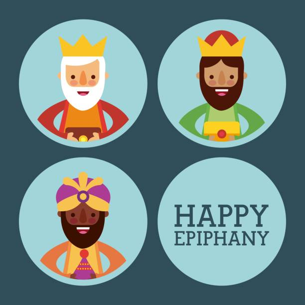 happy epiphany three kings of orient celebration - getty stock illustrations